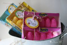 Favorite Peeps Gift Tags for Spring   Easter by createdbydonnak, $2.95  These tags are so cute!