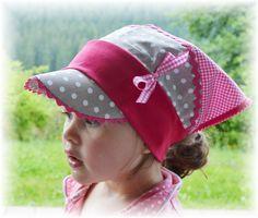 ♥ Kopftuch mit Schild ♥ Taupe  Öko Tex / LSF von Blumenmädchen auf DaWanda.com