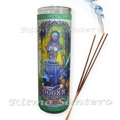 OGGUN ORISHA Fixed Ritual 7 Day Candle VELA 7 Dia Santeria Religion Yoruba Ogun #RitmoSantero