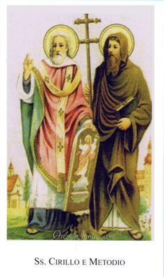 Santos Cirilo y Metodio (estampa antigua)