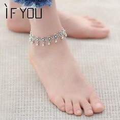 Cheap fashion anklet, Buy Quality anklets for women directly from China bracelet foot Suppliers: IF YOU Hot Vintage Bracelet Foot Jewelry Pulseras Retro Anklet For Women Girl Ankle Leg Chain Charm Bracelet Fashion Jewelry Jewelry Design Earrings, Gold Earrings Designs, Cute Jewelry, Bridal Jewelry, Silver Anklets Designs, Anklet Designs, Leg Chain, Ankle Chain, Mehndi Designs