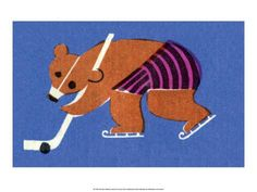 vintage-russian-matchbox-label-bear-playing-ice-hockey.jpg (473×355)