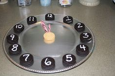 cookie clock for new years eve celebration