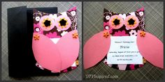 Owl Invitations Collage - too cute...probably do this one for marley's first!