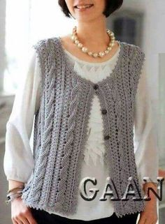 You can wear a jacket all year. Knit vest, and you will understand how it is irreplaceable. Baby Boy Knitting Patterns, Sweater Knitting Patterns, Knitting For Kids, Knitting For Beginners, Lace Knitting, Knitting Stitches, Knitting Designs, Cotton Crochet, Knit Crochet