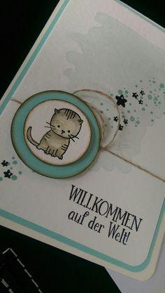 Baby- & Geburtskarten - Baby, Klapp-Karte,Geburt,Glückwunsch,Geburtstag, - ein Designerstück von Mein-Kreativpoint bei DaWanda