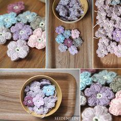 seidenfeins Blog vom schönen Landleben: Streublümchen häkeln * DIY * crochet little daisys