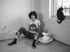 Click to watch video of Patti Smith reciting a poem to Rimbaud (Mummer Love) #PattiSmith #poetry