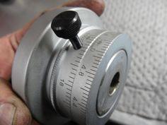 Thumbscrew installed on adjustable cross slide dial collar.