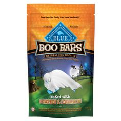 Blue Boo Bars™ Natural Mini Dog Biscuits - PetSmart. Baked with pumpkin & cinnamon. My dog loves these.