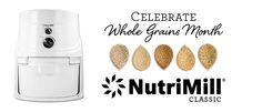 Celebrate Whole Grains Month! One winner will receive a NutriMill Classic grain mill, valued at $239.99.  Open to U.S. and Canadian Residents only. See Official Rules: http://www.boschkitchencenters.com/official-rules/