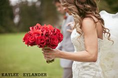 Laineemeg Bridal | Kaylee Eylander Photography | Flowers by Tiffany | Robinswood House Bellevue Wedding | Glam Red & Grey Wedding