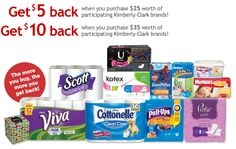 Save up to $10 with this Kimberly-Clark Brands Product Rebate