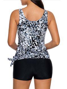 2f8cf286b199 Women Tankini Sets With Boy Shorts Ladies Swimwear Two Piece Swimsuits L -  Walmart.com