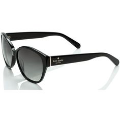Kate Spade Kiersten Sunglasses ($150) ❤ liked on Polyvore featuring accessories, eyewear, sunglasses, black, kate spade eyewear, kate spade glasses, kate spade sunglasses and kate spade