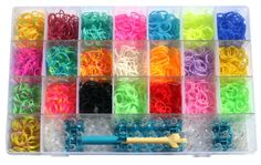 Rainbow Loom Style Rubber Band Bracelets Kit - Make Up to 78 Cool Custom Wristbands - 22 Fun Colors (2200 Silicone Bands) with Supersize Organizer Case Plus Room for Refills - Instructions, Loom, Hook, Mini-Loom and 100 clips - Money Back Guarantee SuperLoopz http://www.amazon.com/dp/B00HSSRNB6/ref=cm_sw_r_pi_dp_jHdPub0QY6PTQ