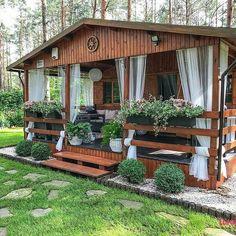Tropical House Design, Tiny House Design, Village House Design, Village Houses, Tiny House Loft, Architectural House Plans, Backyard, Patio, Decks And Porches