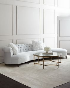 Shop Evelyn Sectional Sofa from Haute House at Horchow, where you'll find new lower shipping on hundreds of home furnishings and gifts. Table Furniture, Luxury Furniture, Living Room Furniture, Living Room Decor, Furniture Design, Rustic Furniture, Modern Furniture, Furniture Stores, Antique Furniture
