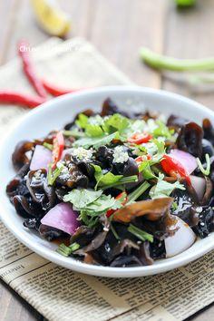 wood ear mushroom salad
