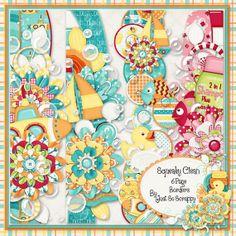 Squeaky Clean Digital Scrapbook Kit Page by JssScrapBoutique, $2.99