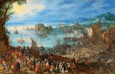 Jan Brueghel the Elder - Alte Pinakothek. The Great Fish Market (1603)