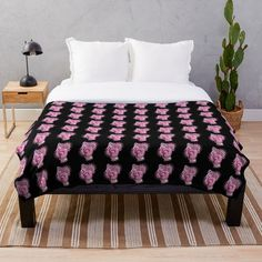 """""""Fight Like A Girl Breast Cancer Awareness"""" Throw Blanket by HavenDesign 