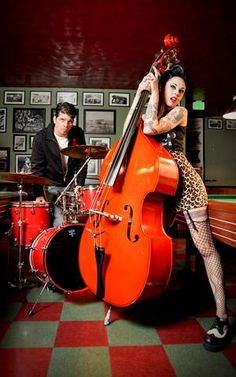 For nomadic rockabilly duo, The Living Deads, 'home is where we park it.' Bass