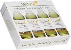 Infused Grapeseed Oil Set. http://www.mywildtree.com/PWS/stylewithsue/eventstore149585/AM/product/INFUSED-GRAPESEED-OIL-SET,1312,320.aspx