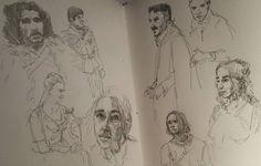 Я не могу объяснить зачем это рисую.  #drawing #illustration #watercolor #portrait #sketch #pencil #sketchbook #art #artwork #painting #eskiz #портрет #рисунок #карандаш #набросок #эскиз #акварель