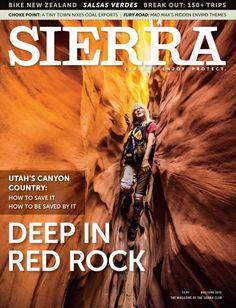 Sierra Magazine | May/June 2015 | Deep In Red Rock | #cover #magazine #sierraclub #sierramagazine #redrock