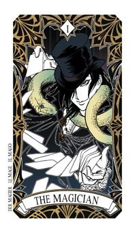 May 21 Tarot Card: The Magician (Magic Manga deck) You possess the inspiration and strength to make a positive difference in your life now