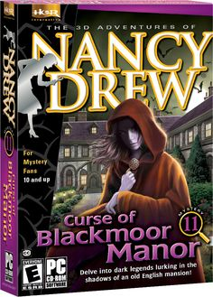 Nancy Drew: Curse of Blackmoor Manor computer game. Delve into Dark Legends Lurking in the Shadow of an Old English Mansion! http://www.herinteractive.com/Mystery_Games/Nancy_Drew/Curse_of_Blackmoor_Manor/pc