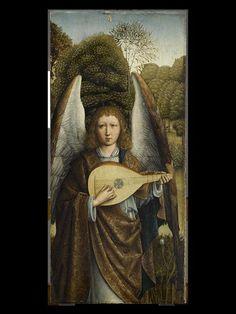 Ange jouant du luth, Maître de la Madone Grog (fin 15e siècle-début 16e siècle), Paris, Musée du Louvre