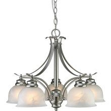 View the Forte Lighting 2095-05 Traditional / Classic 5 Light Down Lighting Chandelier from the Family Collection at LightingDirect.com.