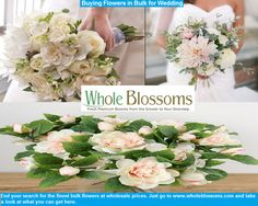 Why waste time searching for a place to buy wholesale flowers for wedding events, when you can get the best of the lot here at http://www.wholeblossoms.com/.