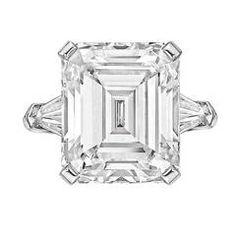 9.47 Carat Emerald-Cut Diamond Engagement Ring