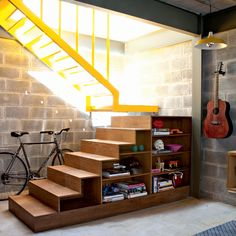 bookcase + stairs #decor #stairs