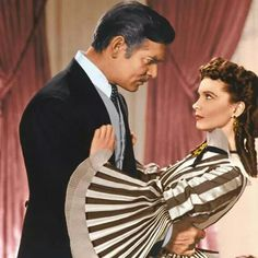 Oh those sleeves!!!!!! Scarlett O'Hara & Rhett Butler Gone With The Wind