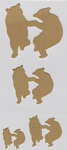 Dancing Bears Country Stencil Reusable for Wall Art arts and crafts