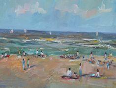 """Una pintura al día: """"Playa"""""""