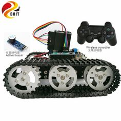 Wireless Control Smart Robot Crawler Tank Car Chassis with Arduino Uno R3 Board