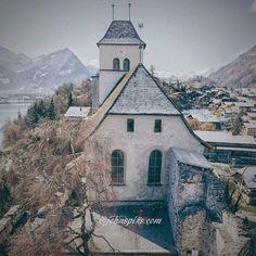 The church and castle at Ringgenberg, Switzerland. On the shores of Lake Brienz #ringgenberg #interlaken #switzerland #photographer