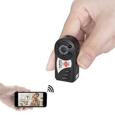 FREDI Mini Portable P2P WiFi IP Camera IndoorOutdoor HD DV Hidden Spy Camera Video Recorder Security Support iPhoneAndroid Phone iPad PC Remote View ** Details can be found by clicking on the image.