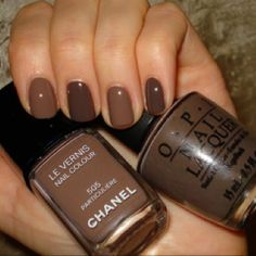 I never see brown nails ever and I think it's fab:)