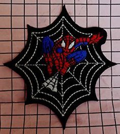 """ Spiderman Web"" Iron On Patch"