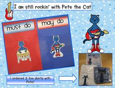 Pete the Cat Anchor Chart for Workshop Time: Must Do / May Do