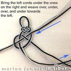 Marion Jewels in Fiber - News and Such Celtic Bracelet, Bracelet Knots, Woven Bracelets, Knotted Bracelet, Handmade Bracelets, Bracelet Making, Animated Knots, Horse Hair Braiding, Knots Guide