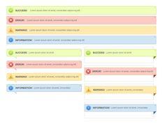 Web page tips box PSD