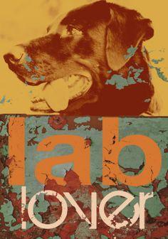 Labrador Print by M.J. Lew at Art.com opawz.com  supply pet hair dye,pet hair chalk,pet perfume,pet shampoo,spa....