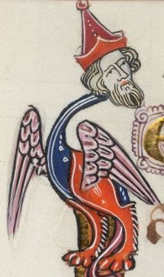 Detail from The Luttrell Psalter, British Library Add MS 42130 (medieval manuscript,1325-1340), f260v
